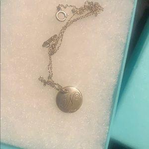 Tiffany & co bracelet and N charm